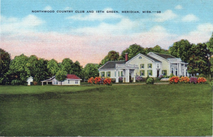 Northwood Country Club is located approximately three miles northeast of Meridian. The Club House is a replica of Mount Vernon. The eighteen hole golf course is one of the finest in Mississippi.