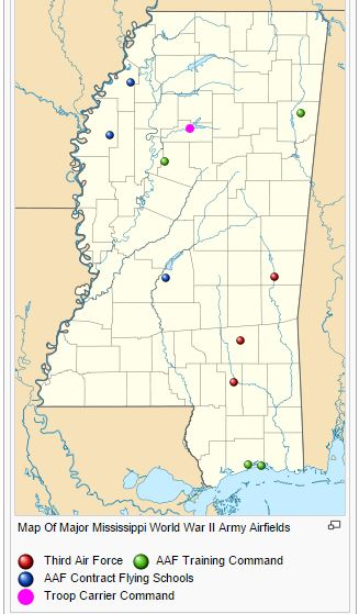 Mississippi WWII Airfields
