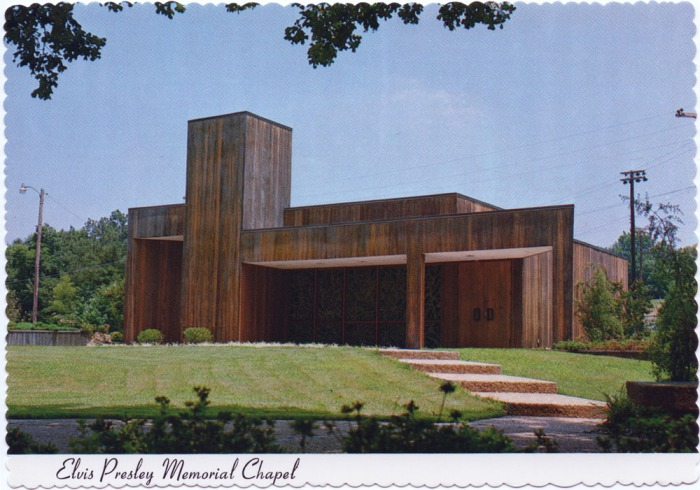 ELVIS PRESLEY MEMORIAL CHAPEL, Tupelo, Mississippi. Dedicated August 17, 1979. Photo by Don Lancaster.