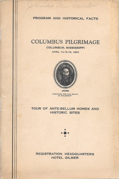 1940 Columbus Pilgrimage Cover