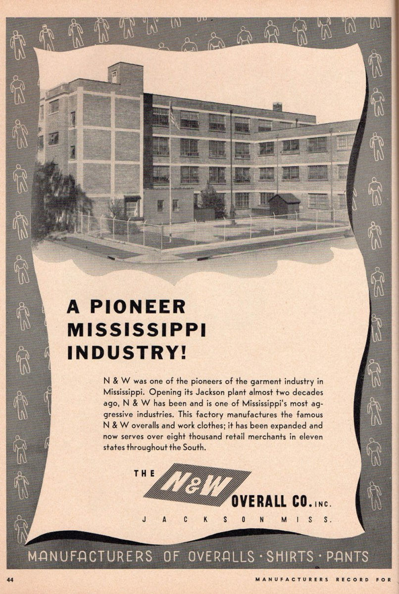 Industrial Mississippi 1946: N&W Overall Company