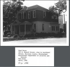 Bond-Grant House. Pam Guren, MDAH April 1981 from MPS Historic Resources of Biloxi NRN on MDAH HRI accessed 4-13-2016