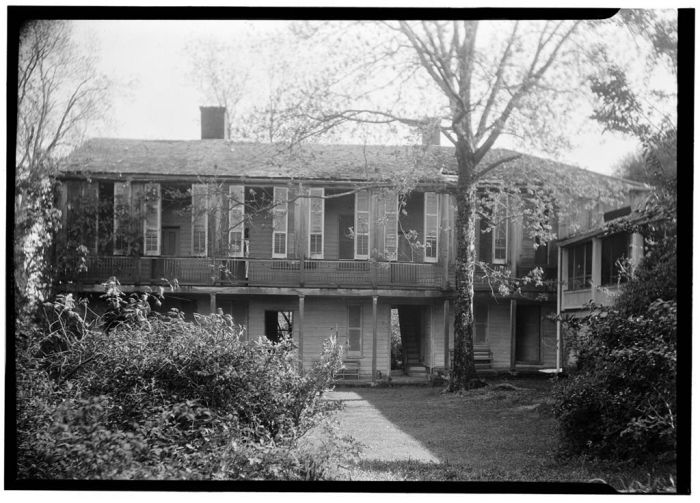 FRONT VIEW REAR WING (NORTH ELEVATION) - Hope Farm (Villa), Auburn Avenue & Homochitto Street, Natchez, Adams County, MS. James Butters, Photographer April 8, 1936.
