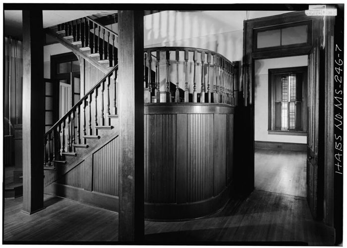 MS-246-1. Skipwith House, University of Mississippi, Interior, First Floor. March 1975, Jack E. Boucher, HABS Photographer.