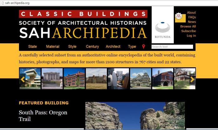 Archipedia screen capture 6-6-16
