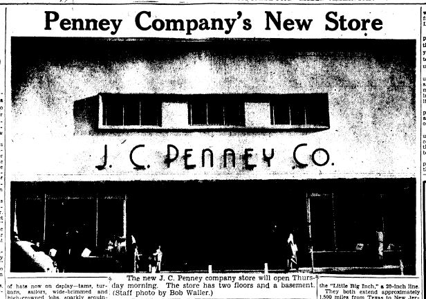 J C Penney Co Hattiesburg 1946