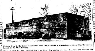 Kremser's Sheet Metal Works. 3rd St. Clarksdale, MS c. 1949