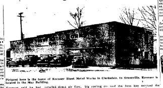 Kremser's Sheet Metal Works. 3rd St. Clarksdale, MS c. 1949