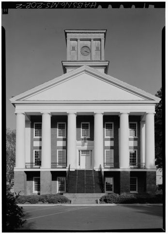 West front, close-up - Alcorn State University, Oakland Chapel, Alcorn State University Campus, Alcorn, Claiborne County, MS. April 1972. Jack Boucher, photographer.
