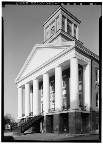 West front from southwest - Alcorn State University, Oakland Chapel, Alcorn State University Campus, Alcorn, Claiborne County, MS. April 1972, Jack Boucher, photographer.