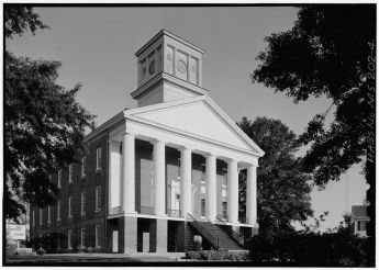 West front from northwest - Alcorn State University, Oakland Chapel, Alcorn State University Campus, Alcorn, Claiborne County, MS. April 1972, Jack Boucher, photographer.
