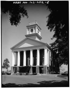 West front, from southwest - Alcorn State University, Oakland Chapel, Alcorn State University Campus, Alcorn, Claiborne County, MS. Gil Ford, photographer, c.1980.