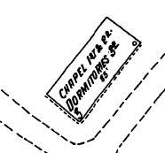 Detail of above Sanborn map image, Feb 1916
