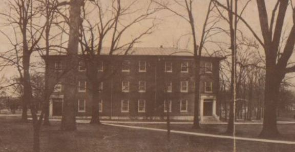"""Croft Institute, formerly Chapel,, University of Mississippi, c.1915, from """"Views on Campus,"""" photo by John C. Coovert. MDAH Electronic Resource."""