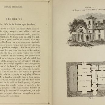 pages 114 & 115 Cottage Residences by A. J. Downing first ed. published 1842