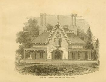 plate 128 The Architecture of Country Houses by AJ Downing published 1851