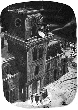 The Family's home, as drawn by Charles Addams