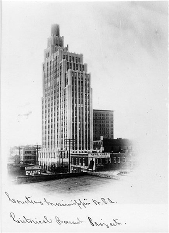 Tower Building/Standard Life Building, Jackson MS c. 1930 from MDAH HRI db