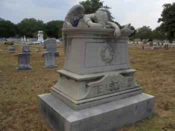 Teasdale Monument, Friendship Cemetery, Columbus, via wikimedia commons