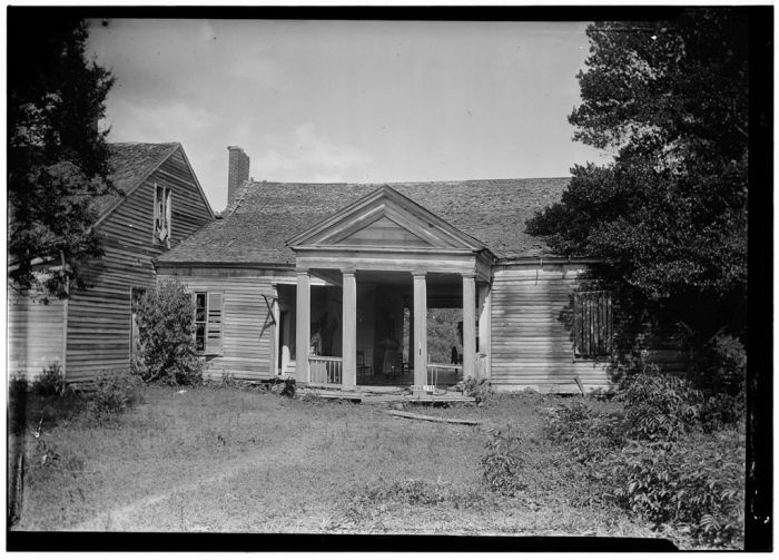 Front (West Elevation), August 25, 1936, James Butters, HABS photographer.