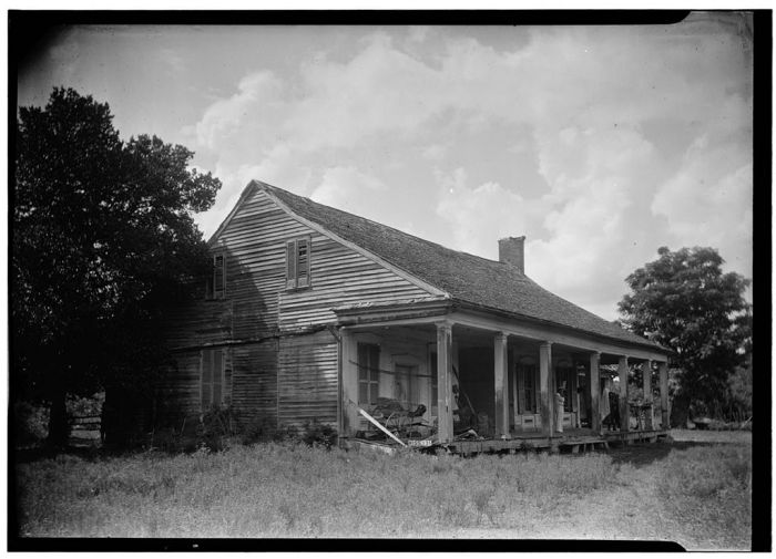 Rear (Southeast corner), August 25, 1936, James Butters, HABS photographer.