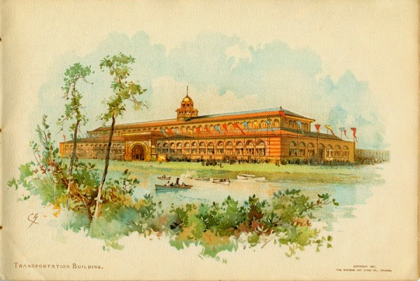 Transportation Building. Worlds Colombian Exhibition, Chicago Il. Adler & Sullivan Architects 1893
