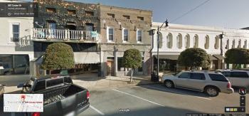 509 Cruise Street, Corinth (brown building in the center), Google Street View