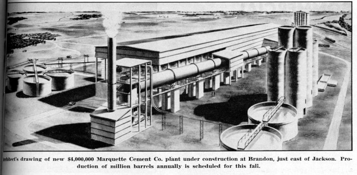Marquette Cement Manufacturing Plant, Brandon