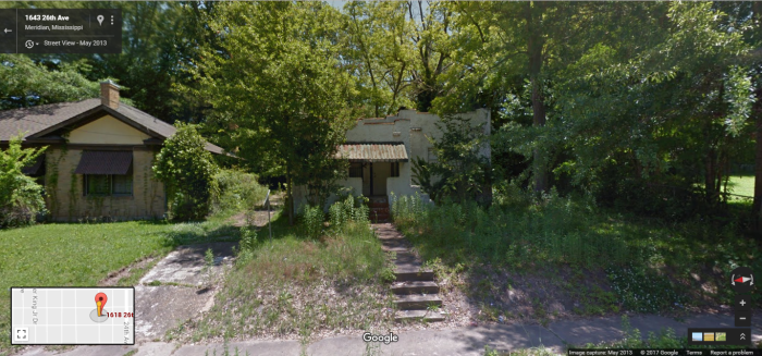 Rare Mission Style Bungalow, 1618 26th Ave., Meridian, Google Street View, May 2013