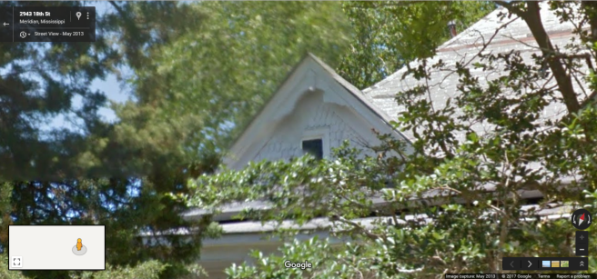 Front Gable, 2922 18th St., Meridian, Google Street View, May 2013
