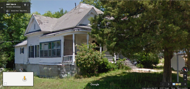 Front and Side Facades, 2922 18th St., Meridian, Google Street View, May 2013