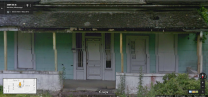 Victorian front door, 3409 5th St., Meridian; Google Street View, May 2013