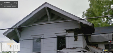 Front Gable, 635 33rd Ave., Meridian, Google Street View, May 2013