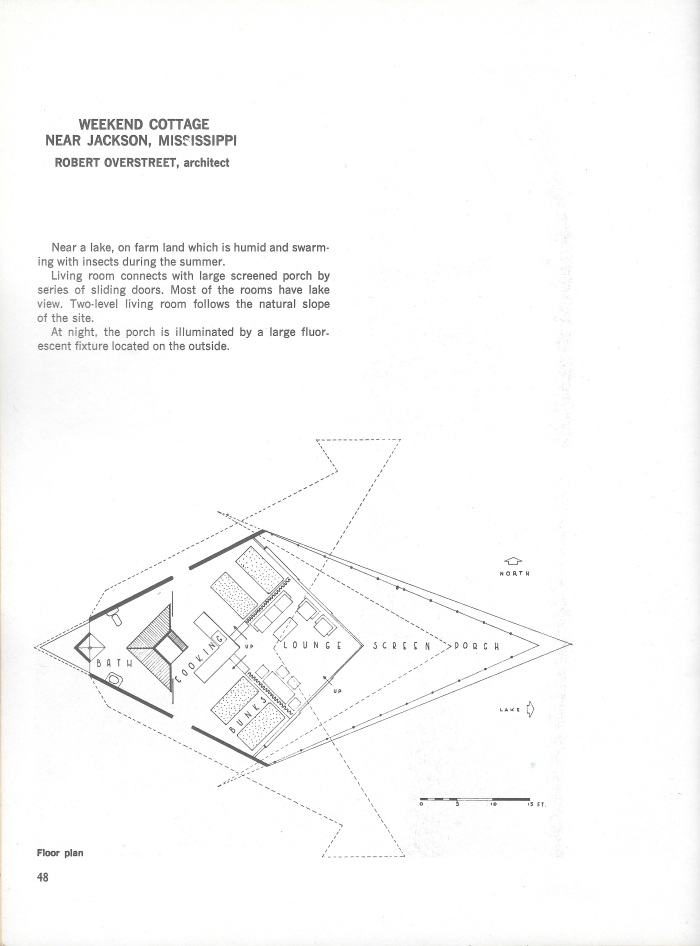 Champion Lodge, plan and description, page 48 of Small Homes in the New Tradition.