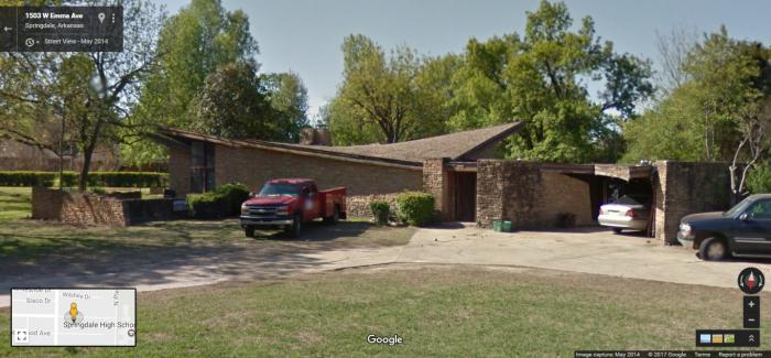 William Oglesby House, 1503 West Emma Avenue, Springdale, Arkansas, Google Street View