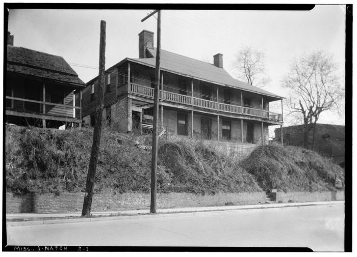 Gilreath's Hill, WEST ELEVATION. Canal Street, Natchez, Adams County, MS. Ralph Clynne, Photographer, March 29, 1934.