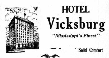 Hotel Vicksburg from Vicksburg 1931 City Directory Polk Publications