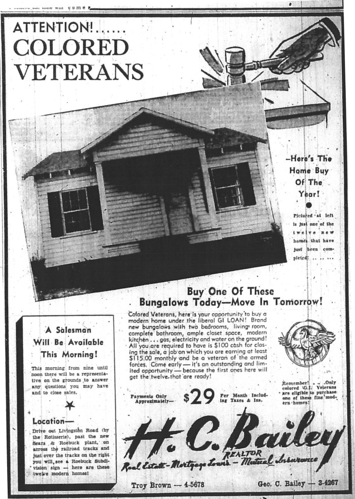 Advertisement in the Jackson Clarion-Ledger, June 30, 1946.