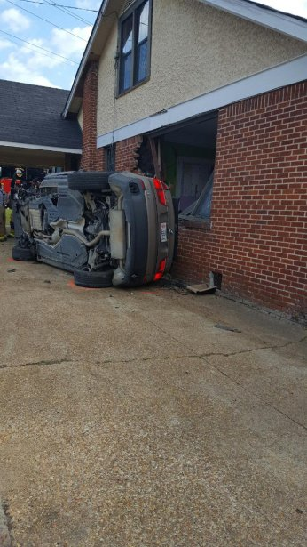 Car hits historic house exterior WTVA