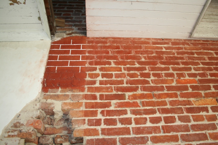 New and Original Penciling on Old Brick House, Biloxi Harrison County