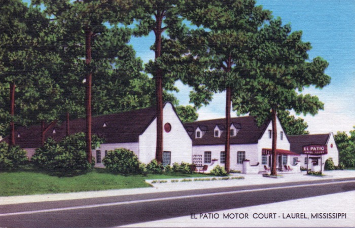Roadside Mississippi El Patio Motor Court Laurel