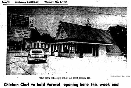 Chicken Chef Hardy Street, Hattiesburg from Hattiesburg American 5-8-1969