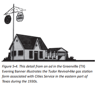 rendering of a cities service station from txdot field guide to gas rh misspreservation com service station guide service station building cost