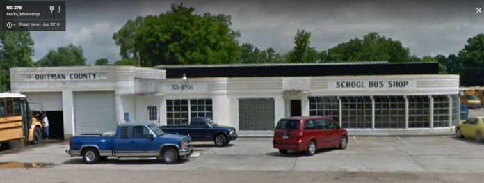 former Pan Am Station Marks, Mississippi June 2014 Google Streetview