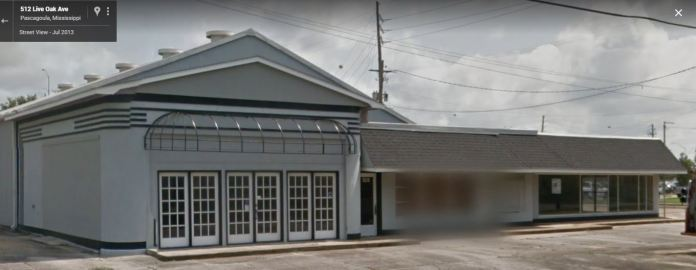 former Pan Am Station Pascagoula, Mississippi 2013 Google Streetview