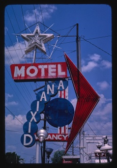 Dixiana Motel sign Vicksburg, MS 1982 Margolies, John, photographer