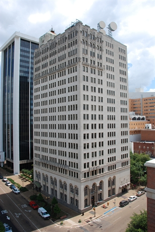 Merchants Bank and Trust [Deposit Guaranty Bank Building, AmSouth Bank Building] Jackson Mississippi J Baughn, MDAH from MDAH HRI db accessed 7-10-17