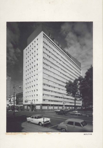 First National Bank (now Trustmark) (1956, associated with N.W. Overstreet & Assoc.), Jackson