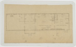 Floor plan. U.S. Naval Camp, Gulfport, Miss. Martin Evans Boyer Papers, 1910-1993 (UNCC MC00094), J. Murrey Atkins Library Special Collections at the University of North Carolina at Charlotte