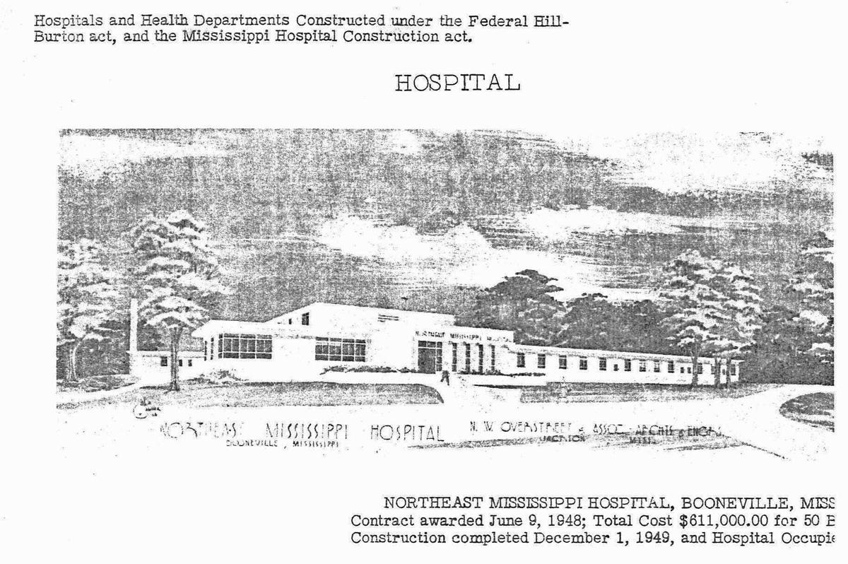 Burton Hospital Map Hill Burton Before and After: Northeast Mississippi Regional  Burton Hospital Map